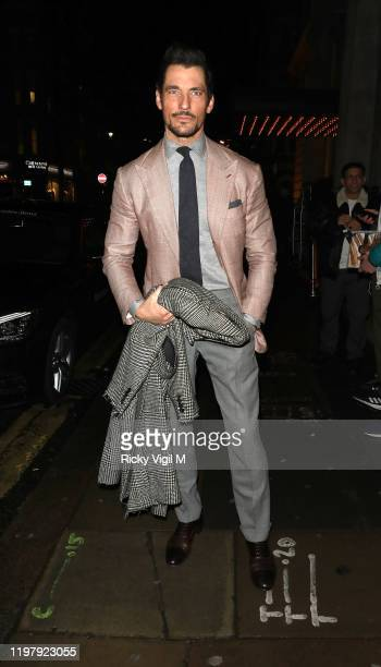 David Gandy seen attending LFW a/w 2020 GQ Dinner on January 06 2020 in London England