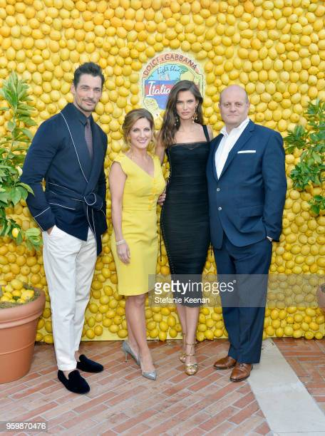 David Gandy Senior Vice President at Shiseido Fragrances Robin Mason Bianca Balti and attend the Dolce Gabbana Light Blue Italian Zest Launch Event...