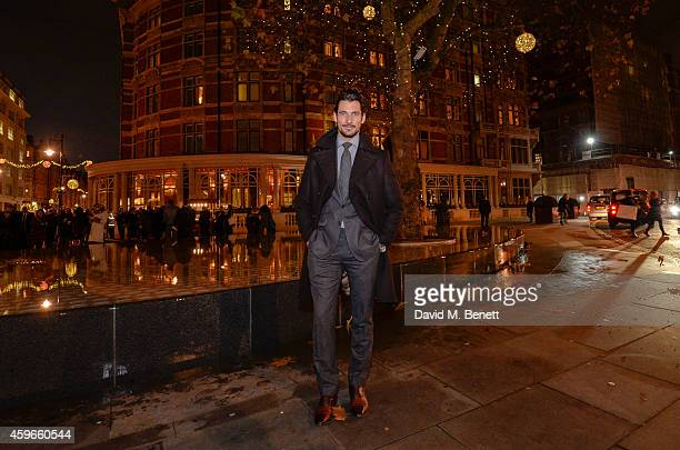David Gandy turns on the Mount Street Christmas lights on November 27 2014 in London England