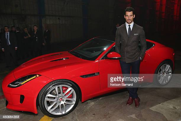 David Gandy was on hand to celebrate the global debut of the 2015 Jaguar FTYPE R Coupe Jaguar's most performance focused vehicle ever at an exclusive...