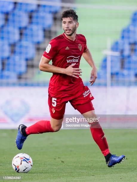 David Garcia of CA Osasuna during the La Liga Santander match between Getafe v Osasuna at the Coliseum Alfonso Perez on September 19 2020 in Getafte...