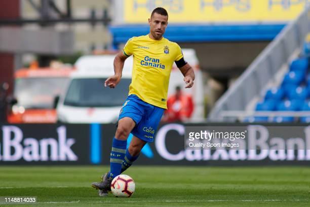 David Garcia of Las Palmas in action during the match between Las Palmas and Cordoba at Estadio Gran Canaria on May 12, 2019 in Las Palmas, Spain.