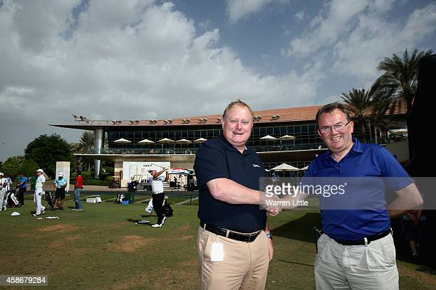 David Garland Director of European Tour Operations and Nick Tarratt European Tour International Director are pictured ahead of the final round of the...