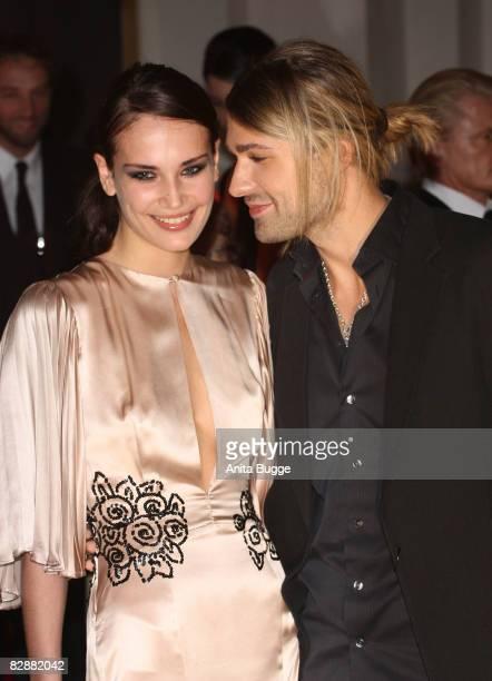 David Garrett and girlfriend Tatjana Gellert attend the Dreamball2008 charity gala in the Martin-Gropius Building on September 18, 2008 in Berlin,...