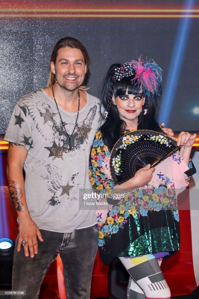 David Garrett And Nina Hagen During The Photo Call To The Tv