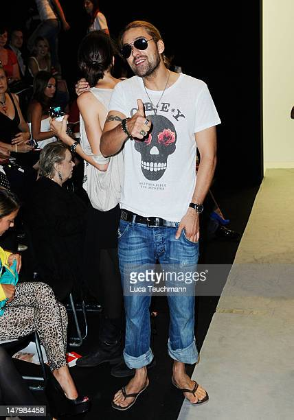David Garrett arrives for the Minx By Eva Lux Show at Mercedes-Benz Fashion Week Spring/Summer 2013 on July 7, 2012 in Berlin, Germany.