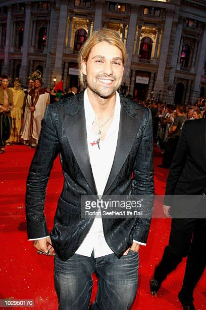 David Garrett attends the 18th Life Ball at the Town Hall on July 17, 2010 in Vienna, Austria. The Life Ball is an annual charity ball raising funds...