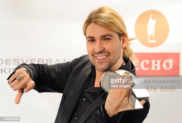 David Garrett attends the Echo Klassik Award 2010 at Philharmonie on October 17, 2010 in Essen, Germany.