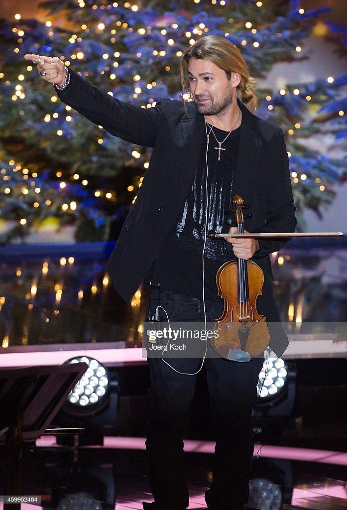 David Garrett attends the TV show 'Die schönsten Weihnachtshits' on December 4, 2014 in Munich, Germany.