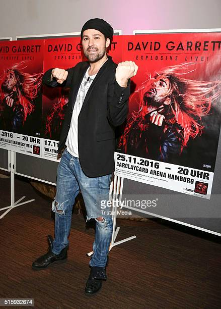 David Garrett during the David Garrett Press Conference on March 16 2016 in Hamburg Germany