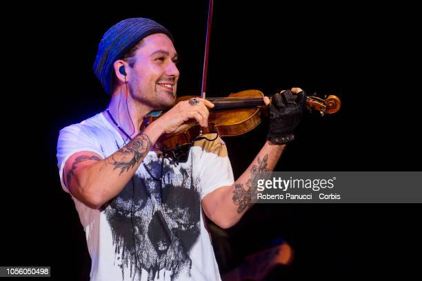 David Garrett perform on stage on October 17, 2018 in Rome, Italy.