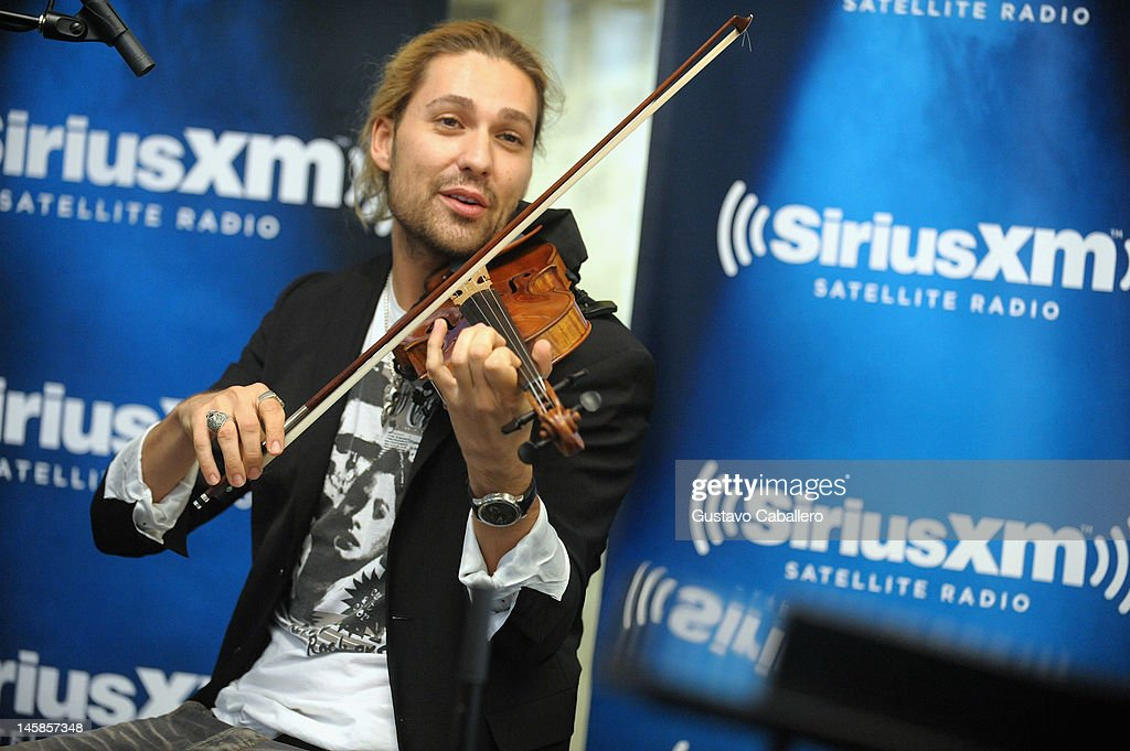 David Garrett performs as part of SiriusXM's 'Artist Confidential' series on SiriusXM Pops on June 6, 2012 in New York City.
