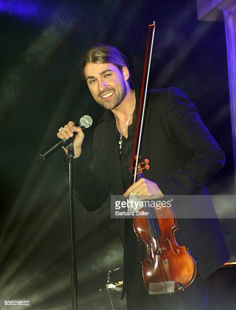 David Garrett performs at the UNESCO Benefit Gala for Children 2008 at Hotel Maritim on November 1, 2008 in Cologne, Germany.