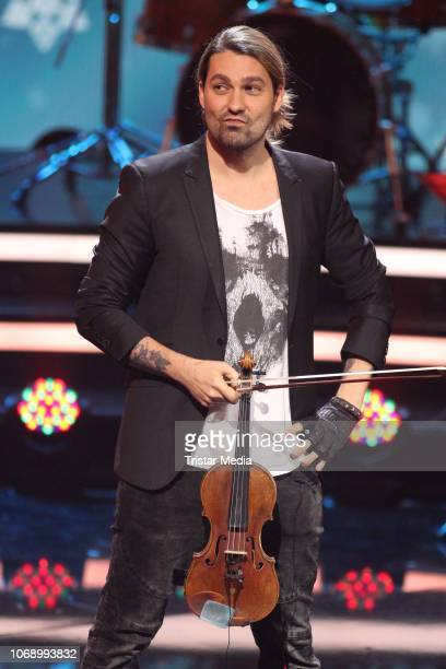 David Garrett performs during the charity tv show 'Die schoensten WeihnachtsHits' in favor of MISEREOR and Brot fuer die Welt on December 5 2018 in...