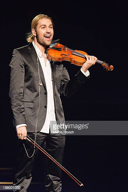 David Garrett performs during the Jose Carreras Gala at the Neue Messe on December 15 2011 in Leipzig Germany The annual TV Show is a fundraising...