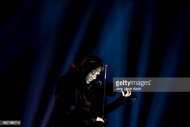 David Garrett performs during the tv show '150 Jahre Schlager Das Grosse Fest Zum Jubilaeum' at Messe Erfurt on October 10 2015 in Erfurt Germany