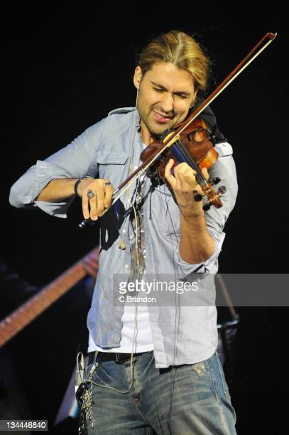 David Garrett performs on stage at Shepherds Bush Empire on December 1 2011 in London United Kingdom