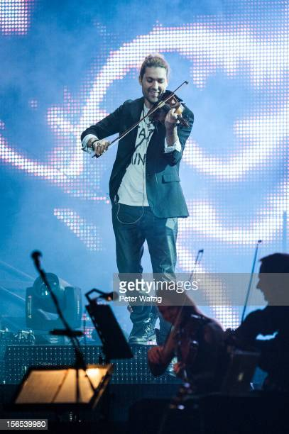 David Garrett performs on stage at the LanxessArena on November 16 2012 in Cologne Germany