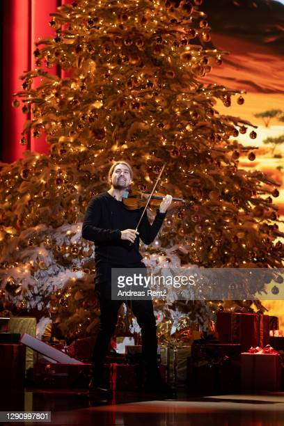 David Garrett performs on stage during the 26th Annual Jose Carreras Gala on December 10, 2020 in Leipzig, Germany.