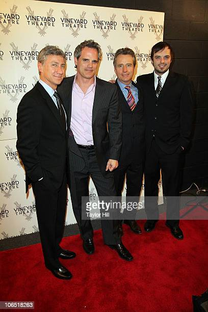David Garrison Michael Park Linus Roache and James McMenamin attend the opening night of Will Eno's Middletown at Vineyard Theatre on November 3 2010...