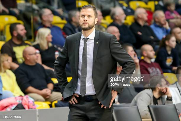 David Gaspar seen in action during EuroLeague Women group B match between Asseco Arka Gdynia and Sopron Basket in Gdynia. .