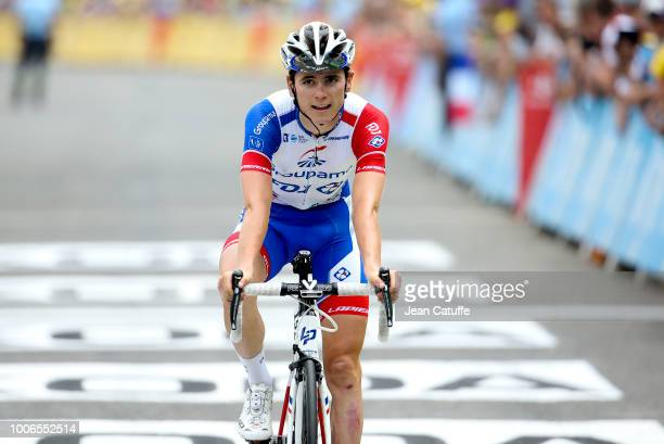 David Gaudu of France and Groupama FDJ finishing stage 19 of Le Tour de France 2018 between Lourdes and Laruns on July 27, 2018 in Laruns, France.
