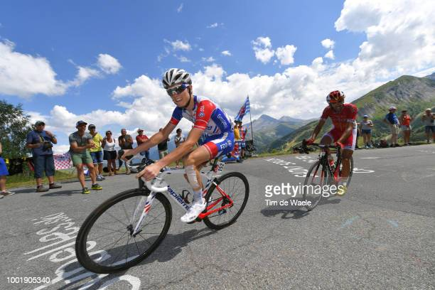 David Gaudu of France and Team Groupama FDJ / Daniel Navarro Garcia of Spain and Team Cofidis / during the 105th Tour de France 2018 Stage 12 a...