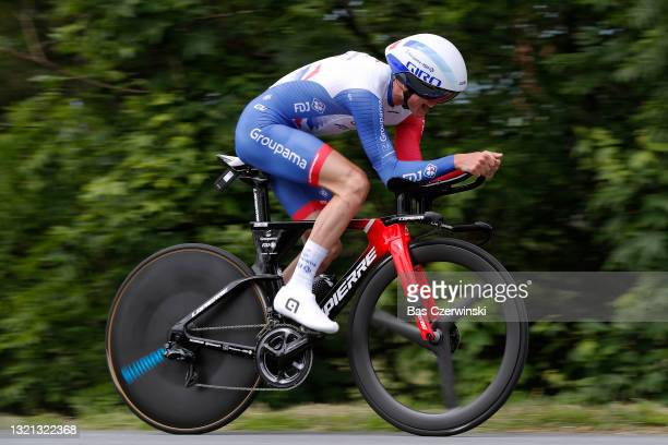David Gaudu of France and Team Groupama - FDJ during the 73rd Critérium du Dauphiné 2021, Stage 4 a 16,4km Individual Time Trial stage from Firminy...