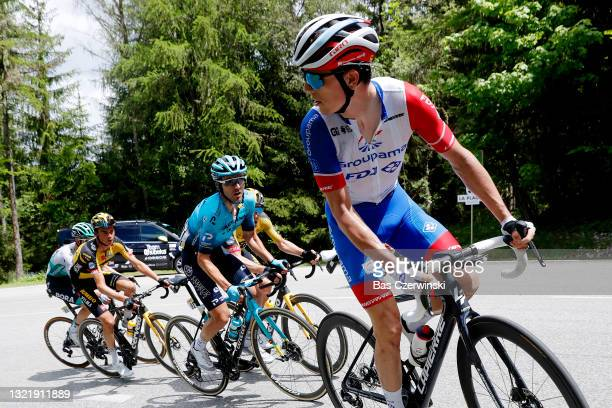 David Gaudu of France and Team Groupama - FDJ during the 73rd Critérium du Dauphiné 2021, Stage 7 a 171,5km stage from Saint-Martin-Le-Vinoux to La...