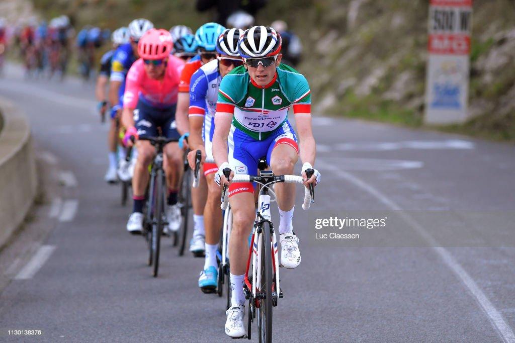 5d44c4587 David Gaudu of France and Team Groupama - FDJ Green Young Jersey ...