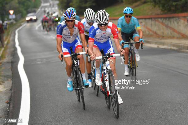 David Gaudu of France and Team Groupama FDJ / Thibaut Pinot of France and Team Groupama FDJ / during the 99th Milano Torino 2018 a 200km race from...