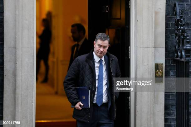 David Gauke UK justice secretary leaves following a weekly meeting of cabinet minister at number 10 Downing Street in London UK on Tuesday Jan 9 2018...