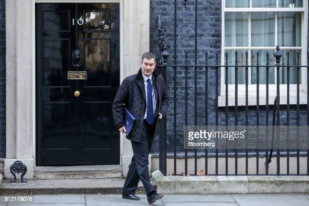 David Gauke UK justice secretary leaves following a weekly meeting of cabinet ministers at number 10 Downing Street in London UK on Tuesday Jan 30...
