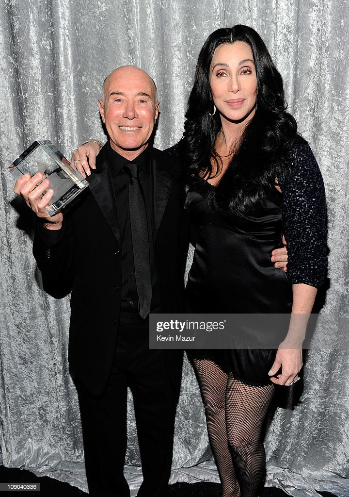 David Geffen and Cher attends the 2011 Pre-GRAMMY Gala and Salute To Industry Icons Honoring David Geffen at The Beverly Hilton Hotel on February 12, 2011 in Beverly Hills, California.