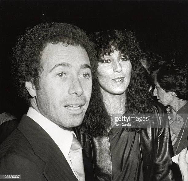 David Geffen and Cher during Opium Perfume Launch After Party at Studio 54 at Studio 54 in New York City New York United States