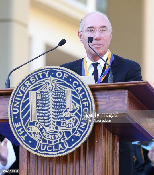 David Geffen philanthropist and entertainment mogul received the UCLA Medal the highest honor bestowed by the university during the David Geffen...