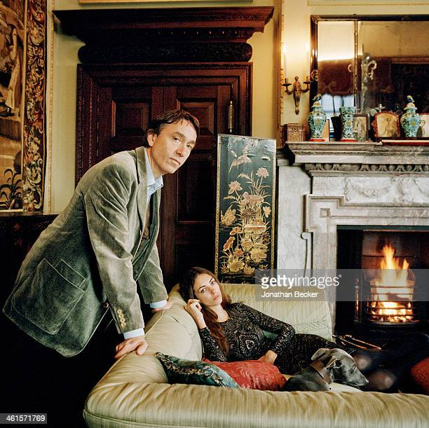 David George Philip Cholmondeley the seventh Marquess of Cholmondeley and wife Rose are photographed for Vanity Fair Magazine on February 3 2013 in a...