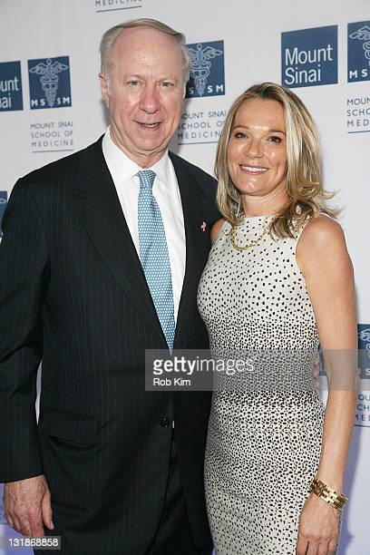 David Gergen and Dr Eva AnderssonDubin attend the opening of Dubin Breast Center at the Tisch Cancer Institute at Mount Sinai Hospital on April 6...