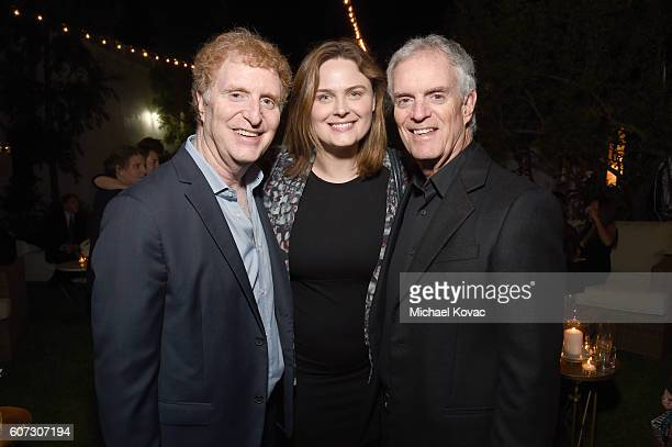 David Gersh Emily Deschanel and Bob Ggersh attend the Gersh Emmy Party presented by World Class Spirits at a private residence on September 16 2016...