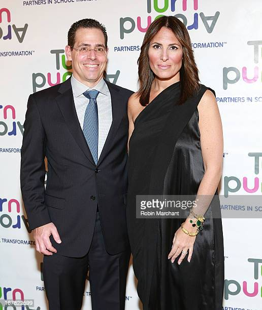 David Gerstenhaber and Kelly Posner Gerstenhaber attend Turnaround for Children 4th Annual Impact Awards Gala at The Plaza Hotel on April 30 2013 in...