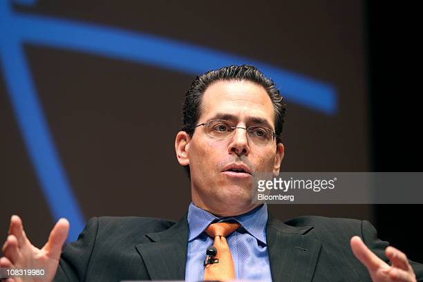 David Gerstenhaber president and founder of Argonaut Capital Management LP speaks during the Bloomberg Link European Debt Crisis conference at the...