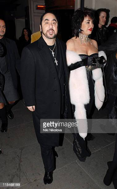 David Gest and Guest during Andy Patti Wong's Chinese New Year Party January 27 2007 at Madamme Tussauds in London Great Britain
