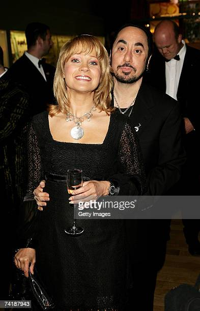 David Gest and his guest arrive at The Bedrock Ball at the Natural History Museum where Tina Turner is due to perform for the first time in 7 years...