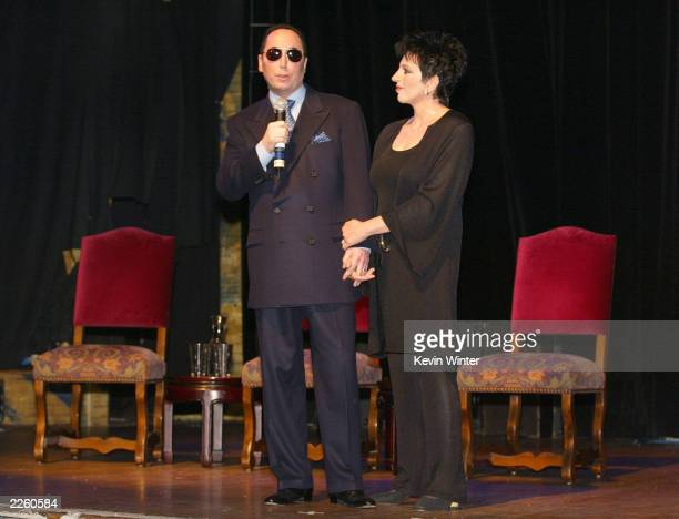 David Gest and Liza Minnelli at the House of Blues in West Hollywood, Ca. To announce they will star in a new weekly musical reality series to air on...