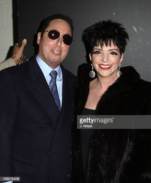 David Gest and Liza Minnelli during Clive Davis and J Records host 'Liza's Back' Listening Party at The Auditorium at the Equitable Center in New...