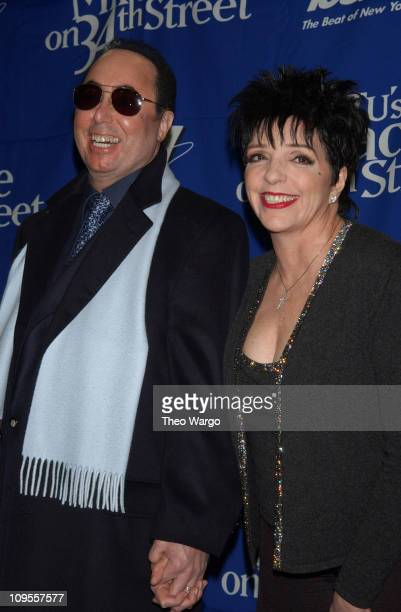 David Gest and Liza Minnelli during KTU's 'Miracle on 34th Street' Show Press Room at Madison Square Garden in New York City New York United States
