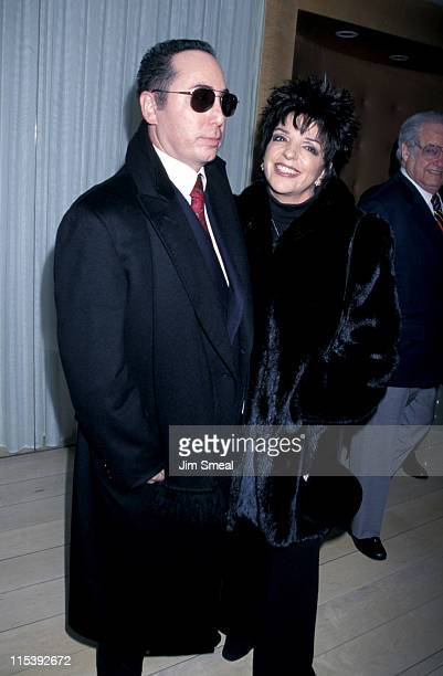 David Gest and Liza Minnelli during Liza Minnelli and David Gest Engagement Party at the Mondrian at Mondrian in West Hollywood California United...