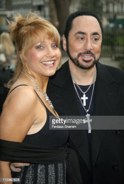 David Gest and Malandra Burrows during Grease Is The Word Press Photocall March 28 2007 at Broomsbury Ballroom in London Great Britain