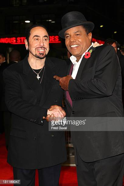 David Gest and Tito Jackson attend the UK premiere of 'Michael Jackson The Life Of An Icon' at Empire Leicester Square on November 2 2011 in London...