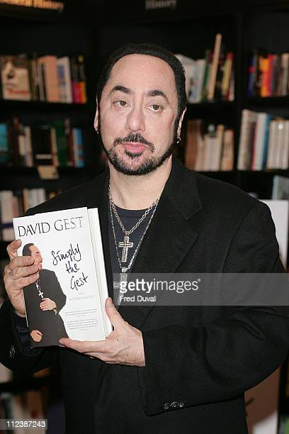 David Gest during David Gest Promotes His Book Simply The Gest at Waterstones in London April 17 2007 at Waterstones Bookshop in London Great Britain